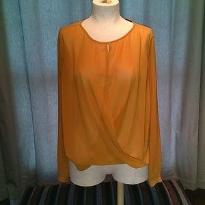 Drapey, sheer blouse